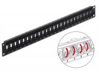 Delock 19 Keystone Patch Panel 24 Port rotatable black