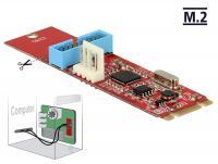 Converter M.2 Key B+M male 1 x USB 3.0 Pin Header