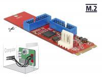 Converter M.2 Key B+M male 2 x USB 3.0 Pin Header