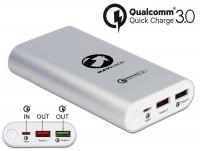 Power Bank 10200 mAh 2 x USB Type-A female with Qualcomm® Quick Charge™ 3.0