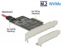 PCI Express x4 Card 1 x internal M.2 Key B + 1 x internal NVMe M.2 Key M - Low Profile Form Factor