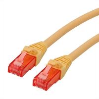 ROLINE UTP Cable Cat.6 Component Level, LSOH, yellow, 0.3 m