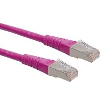 ROLINE S/FTP (PiMF) Patch Cord, Cat.6, pink, 5.0 m
