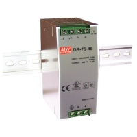 MEAN WELL DR-75-48 DIN-Rail Power Supply Unit, 75W 48V DC