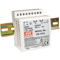 MEAN WELL DR-45-24 DIN-Rail Power Supply Unit, 45W 24V DC