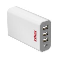 ROLINE USB Charger, 4 Ports (3x USB + 1x USB C), max. 40W