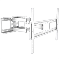 VALUE Solid Articulating Wall Mount TV Holder, white