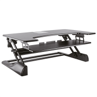 ROLINE Adjustable Desktop Workstation, Sit - Stand Up, black