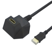 VALUE HDMI High Speed Cable + Ethernet, with magnet, M/F, black, 3.0 m