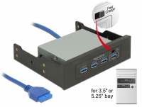 Delock 3.5″ / 5.25″ USB 3.0 Hub 4 Port