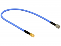 Delock Antenna Cable RP-SMA Plug > RP-SMA Jack (RG-402 semi flexible, 40 cm) low loss
