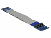 Delock Extension Mini PCI Express / mSATA male > slot riser card with flexible cable 13 cm