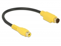 Delock Cable S-Video mini DIN 4 pin male > Cinch female 20 cm