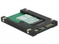 Delock 2.5″ Converter SATA 22 pin / USB 2.0 Type Mini-B > 1 x mSATA / Mini PCIe Slot