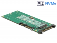 Delock Converter U.2 SFF-8639 NVMe / SATA 22 pin > 1 x M.2 Key M