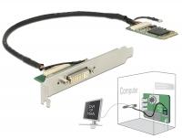 Delock Module Mini PCIe I/O PCIe full size DVI / VGA Graphics Adapter