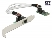 Delock Converter M.2 Key B+M male > 1 x Gigabit LAN – Low Profile Form Factor