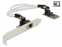 Delock Converter M.2 Key B+M male > 1 x Gigabit LAN – Low Profile Form Factor