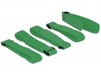 Delock Hook-and-loop fasteners L 300 mm x W 20 mm 5 pieces with loop green