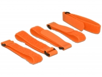 Delock Hook-and-loop fasteners L 300 mm x W 20 mm 5 pieces with loop orange