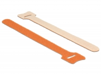Delock Hook-and-loop fasteners L 150 mm x W 12 mm 10 pieces orange