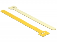 Delock Hook-and-loop fasteners L 200 mm x W 12 mm 10 pieces yellow