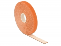 Delock Hook-and-loop fasteners L 5 m x W 13 mm roll orange