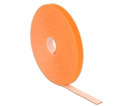 Delock Hook-and-loop fasteners L 10 m x W 13 mm roll orange