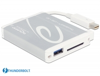 Delock Thunderbolt™ Adapter > 1 x USB 3.0 Type-A female + SD UHS-II Card Reader