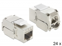 Delock Keystone Module RJ45 jack > LSA Cat.6A 24 pieces