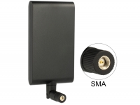 Delock LTE Antenna SMA 1 ~ 4 dBi omnidirectional rotatable with flexible joint black