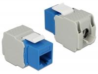 Delock Keystone Module RJ45 jack > LSA Cat.6 UTP blue
