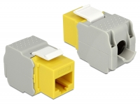 Delock Keystone Module RJ45 jack > LSA Cat.6 UTP yellow