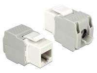 Delock Keystone Module RJ45 jack > LSA Cat.6 UTP white