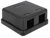 Delock Keystone Surface Mounted Box 2 Port black