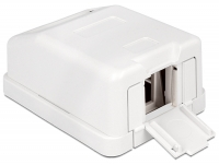 Delock Keystone Surface Mounted Box 1 Port with dust cover