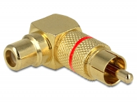 Delock Adapter RCA male > RCA female 90° angled