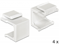 Delock Keystone cover white 4 pieces