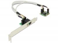 Delock MiniPCIe I/O PCIe half size 1 x Gigabit LAN