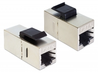 Delock Keystone Module RJ45 female > RJ45 female Cat.6 compact