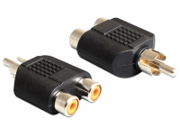 Delock Adapter 2 x RCA female > 1 x RCA male