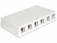 Delock Keystone Surface Mounted Box 6 Port