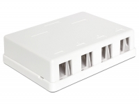 Delock Keystone Surface Mounted Box 4 Port