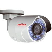 ROLINE 2 MPx Fix Bullet IP Camera, RBOF2-1W, Full-HD, IR-LED, PoE, 4mm fix