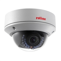 ROLINE 5 MPx Var. Dome IP Camera, RDOV5-1, IR-LED, PoE, 2.8-12mm, IP66, IK10