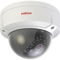 ROLINE 5 MPx Dome IP Camera, RDOF5-1, IR-LED, PoE, 4mm fix 75°, IP66 IK10 for
