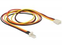 Delock Power Cable 3 pin male > 3 pin female (fan) 60 cm