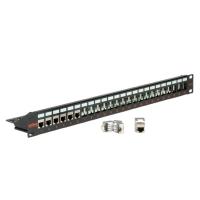 Secomp Keystone 19'' Module frame Cat.5/Cat.6/Cat.6a, 24 Ports, STP, black
