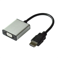 VALUE Cableadapter, HDMI - VGA+Audio, M/F, (Stereo)
