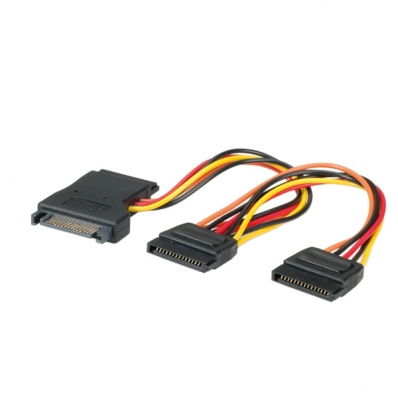 1x 4pin IDE 1x IDE DeLOCK Cable Power SATA 15pin  3x SATA HDD